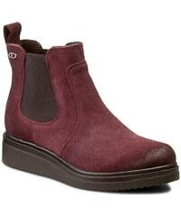 Kotníková obuv s elastickým prvkem LASOCKI - 9209-01W Bordowy Ciemny