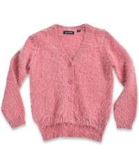 Blue Seven Dívčí chlupatý svetr - růžový