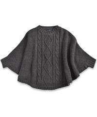 Blue Seven Dívčí pletené pončo - černé