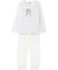 Petit Bateau 2-teiliger Schlafanzug aus Velours