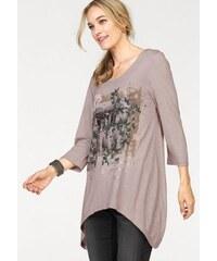 Damen Longshirt 3/4-Ärmel in Zipfelform Cheer rosa 34,36,38,40,42,44,46,48