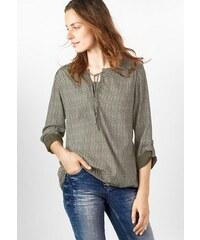 CECIL Damen CECIL Bluse mit Minimalprint grün L (42),M (40),XL (44),XXL (46)