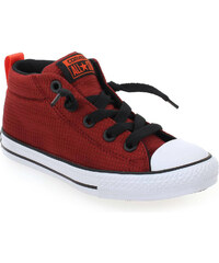 Baskets Enfant garcon Converse en Textile Rouge
