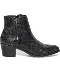 Eram Boots cuir effet python noir