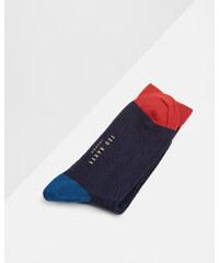 Ted Baker Blockfarben-Socken Marineblau