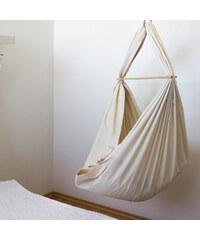 Kolébka Hojdavak, krémová BIO bavlna se zavěšením do stropu