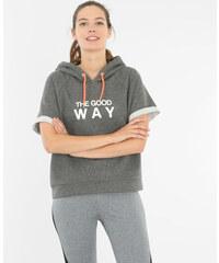 Pimkie Running Cropped-Sweatshirt mit Kapuze