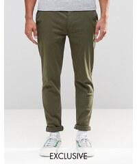 Brooklyn Supply Co - Pantalon chino skinny - Bleu marine - Bleu marine