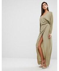 AQ AQ AQAQ - Marvey - Robe longue drapée - Vert