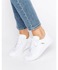 adidas Originals - Gazelle - Baskets en cuir - Blanc - Blanc