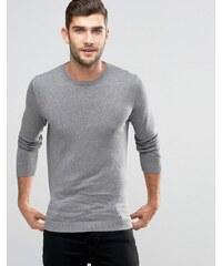 Jack & Jones Premium - Pullover mit Rundhalsausschnitt - Grau