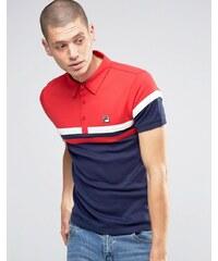 Fila - Vintage-Polo-Hemd mit Streifen auf der Brust - Marineblau