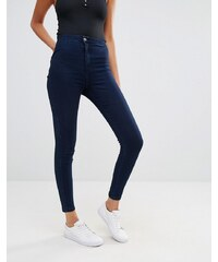 Missguided - Vice - Jean skinny taille haute super stretch - Bleu marine