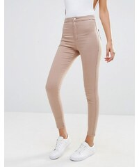 Missguided - Vice - Jean skinny taille haute - Beige