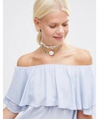Her Curious Nature - Halsband mit Muschel für den Sommer - Gold