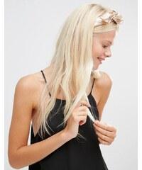 Her Curious Nature - Verdrehtes Haarband in Metallic-Optik - Gold