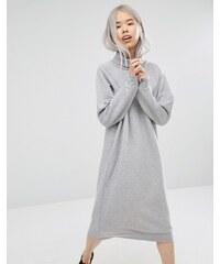 Monki - Robe sweat oversize - Gris