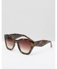 Abercrombie & Fitch - Oversize-Sonnenbrille in Schildpattoptik - Braun