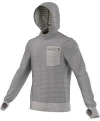 adidas Performance Herren Laufshirt / Sweatshirt mit Kapuze Aktiv Hoody grau