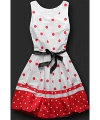 Dámské šaty Librae bílo-červené - bílá