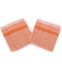 Bade Home Utěrka PAR oranžovobílá kostka 45x65 cm balení 3 ks