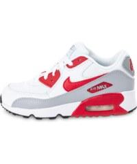 Nike Baskets/Running Air Max 90 Mesh Enfant Blanche Et Rouge Enfant