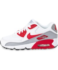 Nike Baskets/Running Air Max 90 Mesh Junior Blanche Et Rouge Enfant