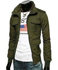 Re-Verse Army-Jacke mit Pattentaschen - Khaki - S