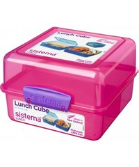 Sistema Box na oběd, 1,4 l - růžový