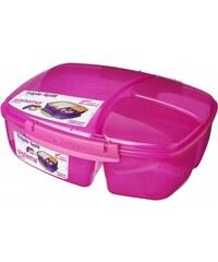 Sistema Velký box na oběd s kelímkem, 2 l - růžový