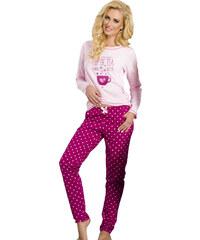 Taro Dámské pyžamo Sara malinové