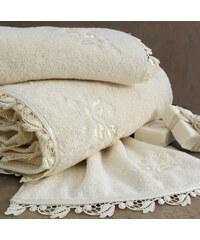 Soft Cotton Malý ručník NAKKAS 32x50 cm Smetanová