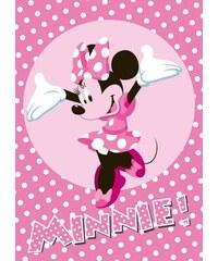 Vopi Dětský puntíkovaný koberec Minnie, 133x95 cm - růžový