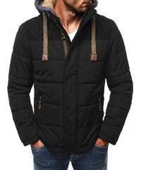 J. Style Černá pánská bunda s praktickou kapucí J. STYLE 3092