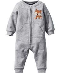 bpc bonprix collection Baby Sweat Overall Bio-Baumwolle langarm in grau von bonprix