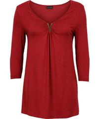 BODYFLIRT Shirt mit Applikation 3/4 Arm in rot für Damen von bonprix