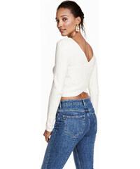 H&M Krátké triko s křížením
