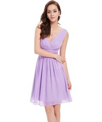 Ever Pretty letní šaty krátké jemné fialové 3989 a7d51412d8