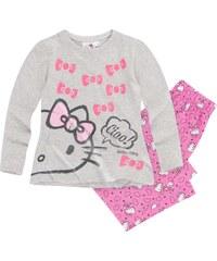 Hello Kitty Pyjama pink in Größe 98 für Mädchen aus 100% Baumwolle Graumelange: 95% Baumwolle 5% Viskose