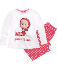 Mascha und der Bär Pyjama rot in Größe 104 für Mädchen aus 100% Baumwolle