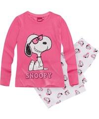 Snoopy Pyjama weiß in Größe 116 für Mädchen aus 100% Baumwolle