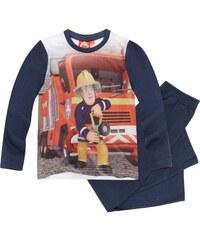 Feuerwehrmann Sam Pyjama blau in Größe 98 für Jungen aus Vorderseite: 100% polyester Ärmel: 100% Baumwolle