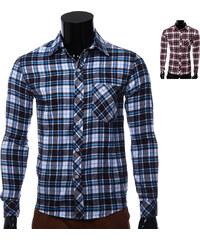 Lesara Chemise à carreau avec poche de poitrine