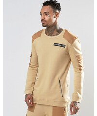 Underated - Sweat avec empiècements - Taupe