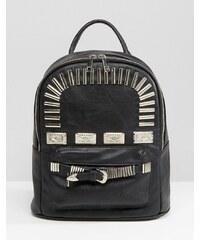 ASOS - Mini-Rucksack mit Metallbeschlägen im Western-Stil - Schwarz