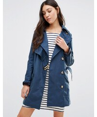 Cooper & Stollbrand - Trench-coat asymétrique - Bleu marine - Bleu marine