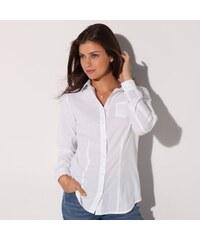 Blancheporte Jednobarevná košile bílá 42