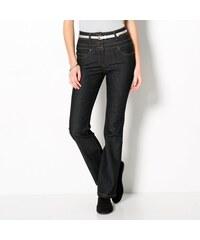 Blancheporte Bootcut džíny s vysokým pasem černá 46