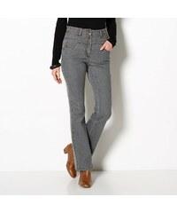 Blancheporte Bootcut džíny s vysokým pasem šedá 36