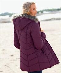 Blancheporte Prošívaná bunda s kapucí švestková 38